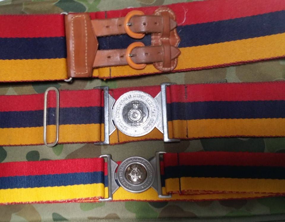 RAAMC Stable belts 1980s x2 and 2017 x1