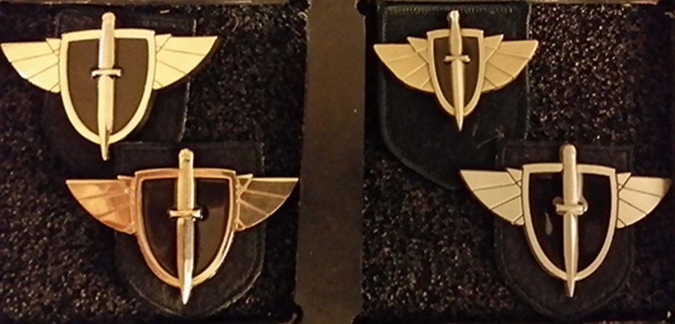 JATC hat badge variants 1 to 4 obverse from CB Books