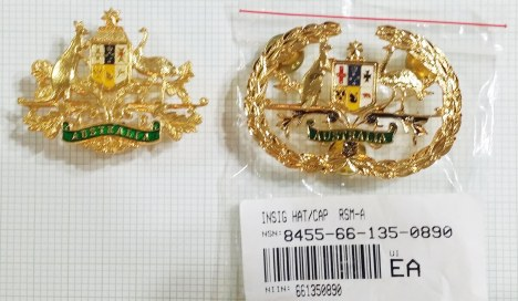Brigade RSM and RSM-A Hat badges obverse